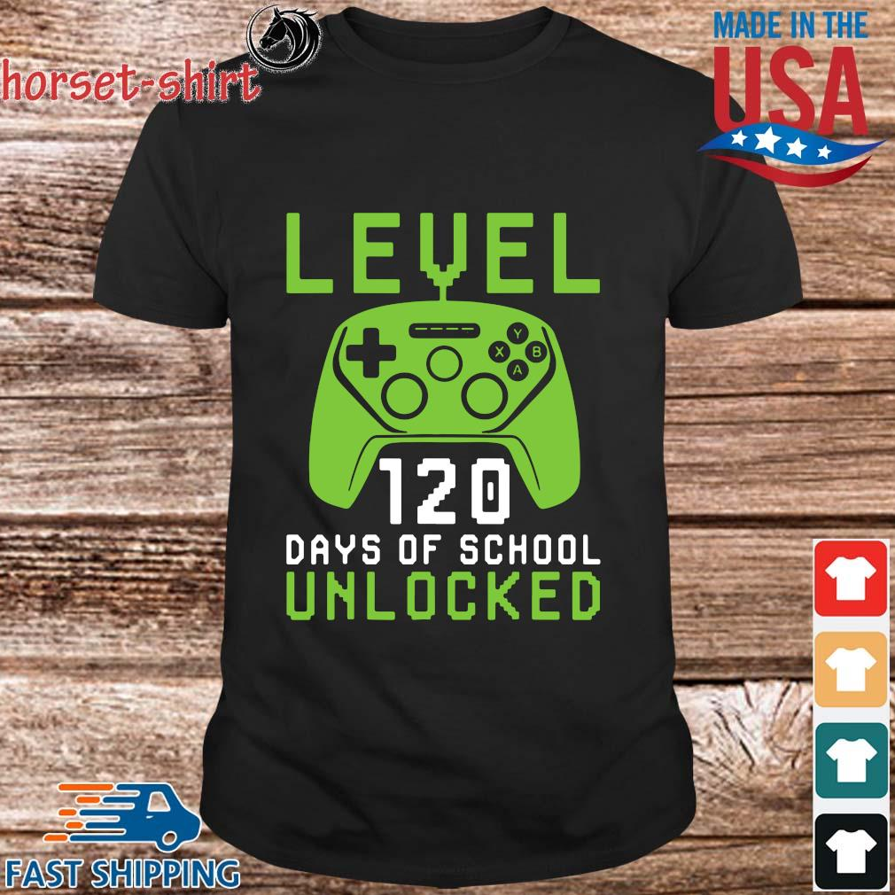 Level 120 days of school unlocked shirt