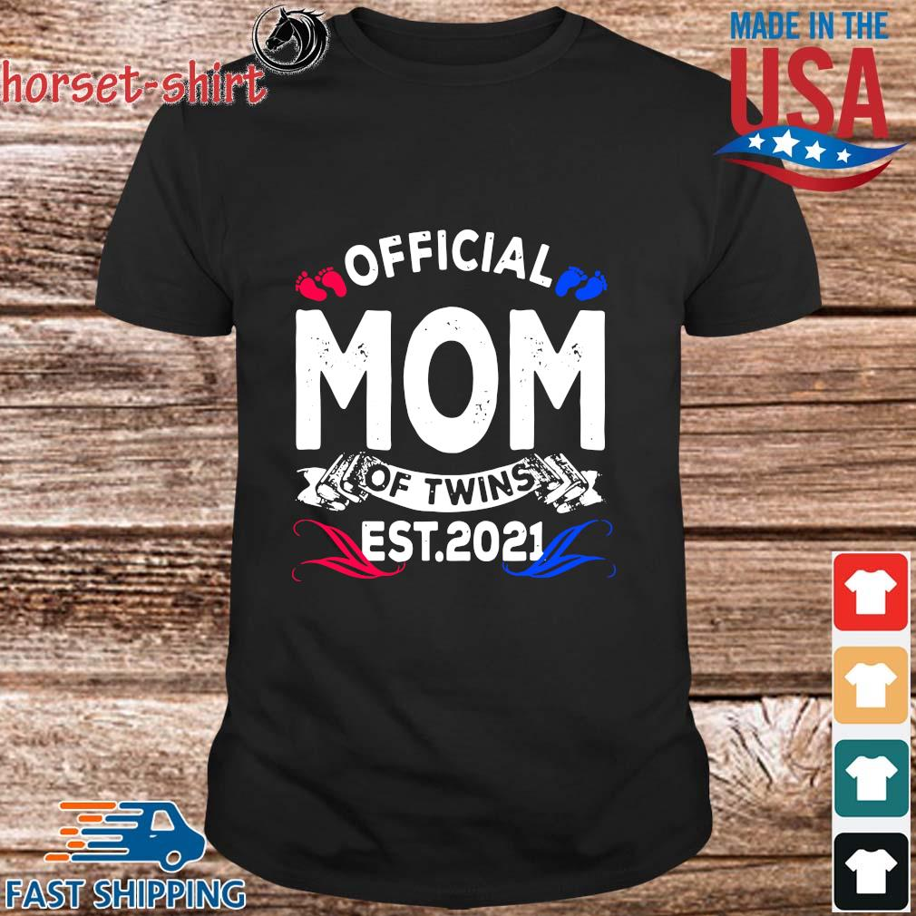 Official mom of twins est 2021 shirt