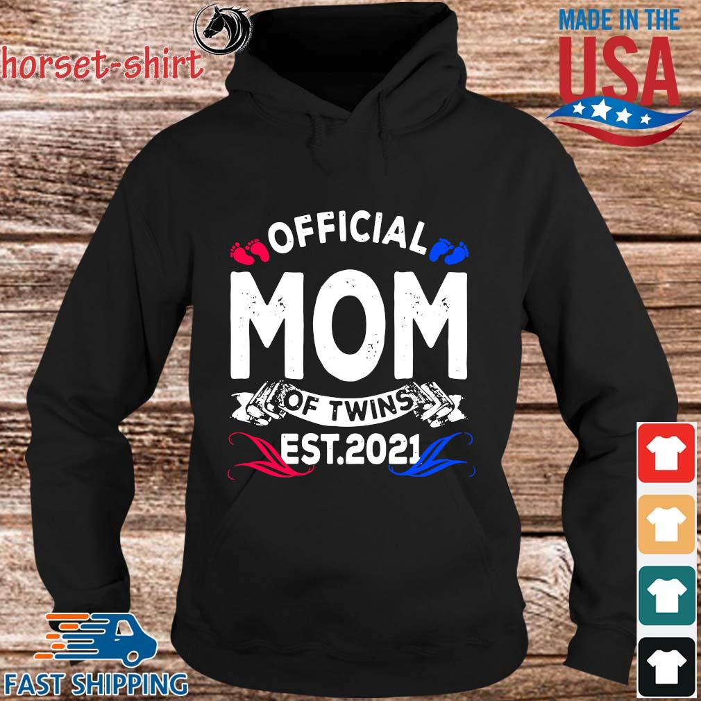 Official mom of twins est 2021 s hoodie den