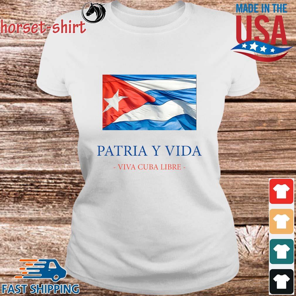 Patria y vida viva Cuba libre s Ladies trang