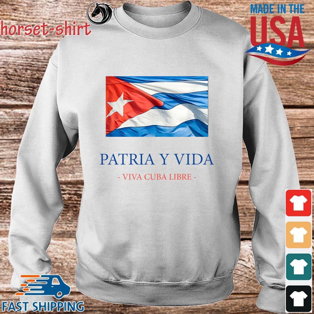 Patria y vida viva Cuba libre s Sweater trang