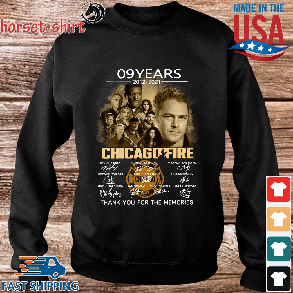 09 years 2012-2021 Chicago Fire thank you signatures s Sweater den