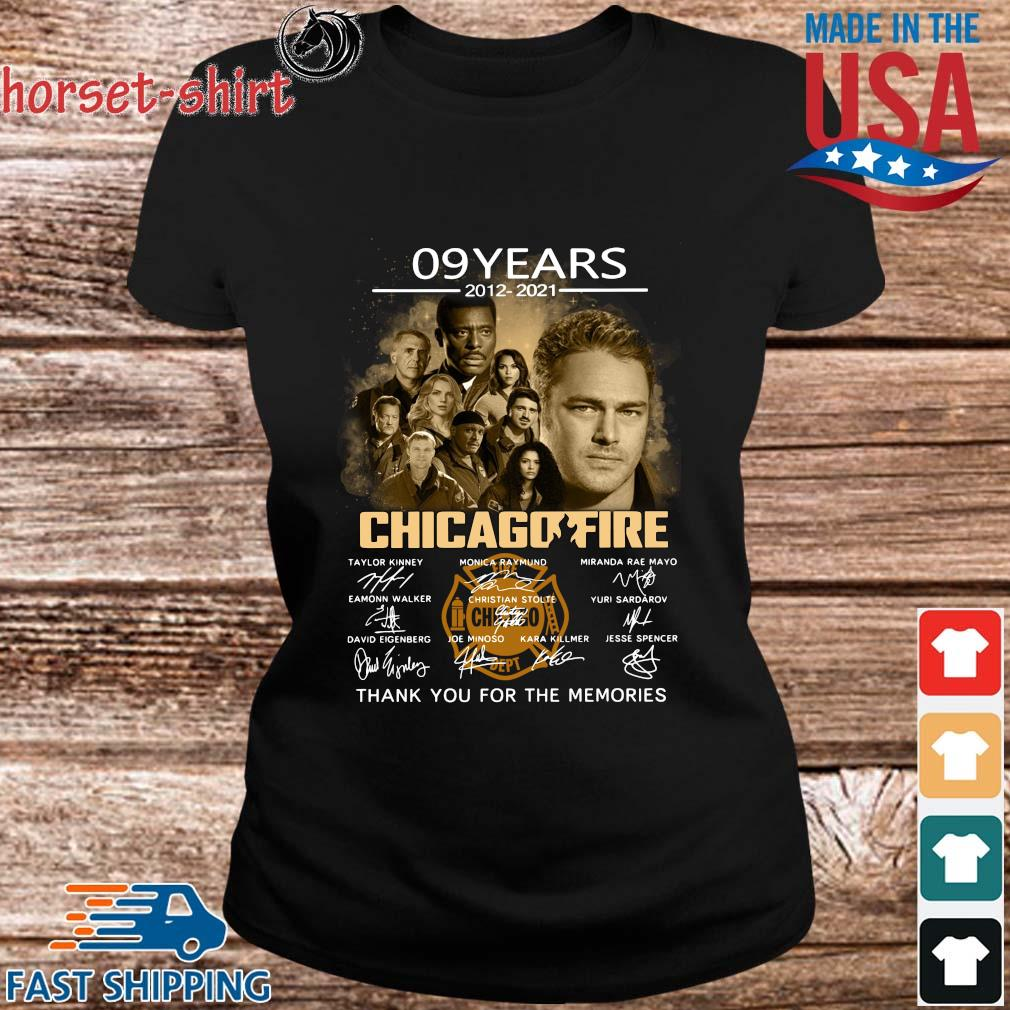 09 years 2012-2021 Chicago Fire thank you signatures s ladies den
