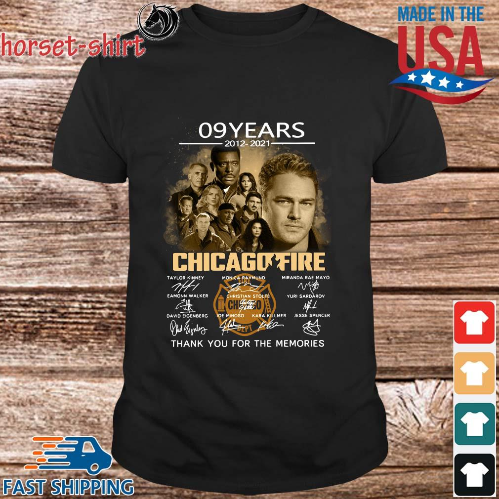 09 Years 2012 2021 Chicagofire Thank You For The Memories Signatures Shirt