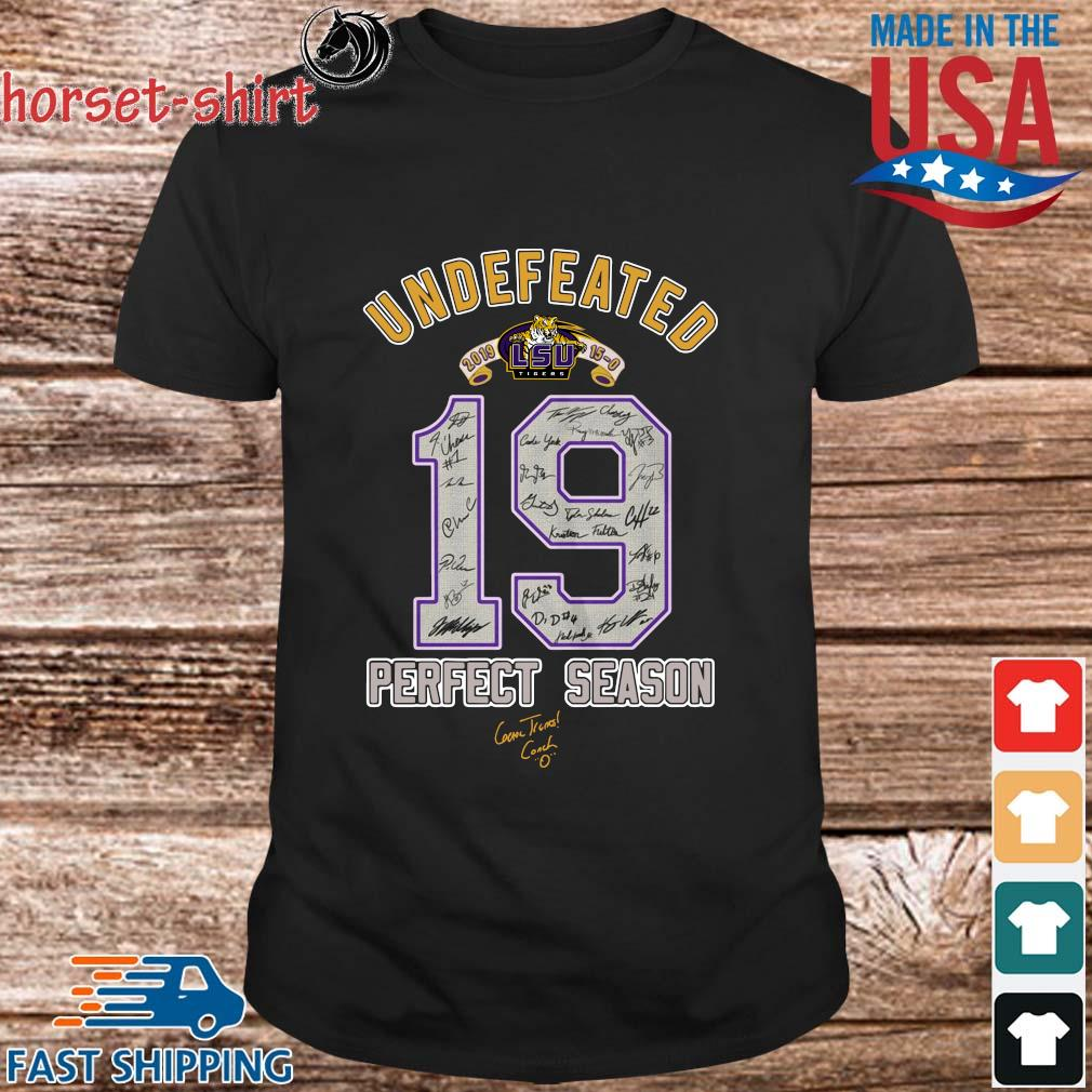 19 LSU Tigers undefeated perfect season signatures shirt