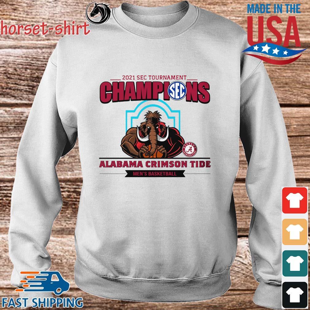 2021 Sec Tournament Champions Alabama Crimson Tide Men's Basketball Shirt Sweater trang