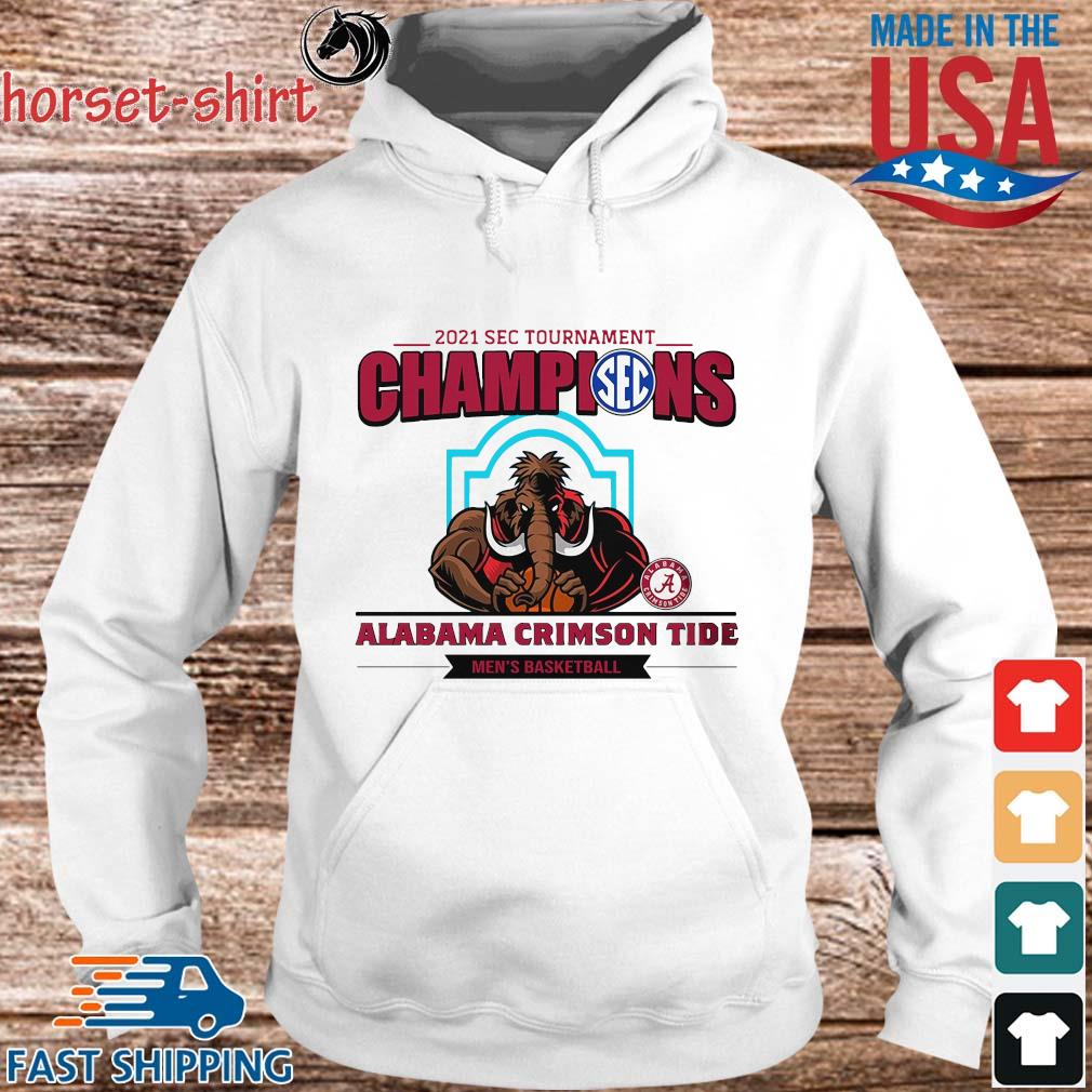 2021 Sec Tournament Champions Alabama Crimson Tide Men's Basketball Shirt hoodie trang