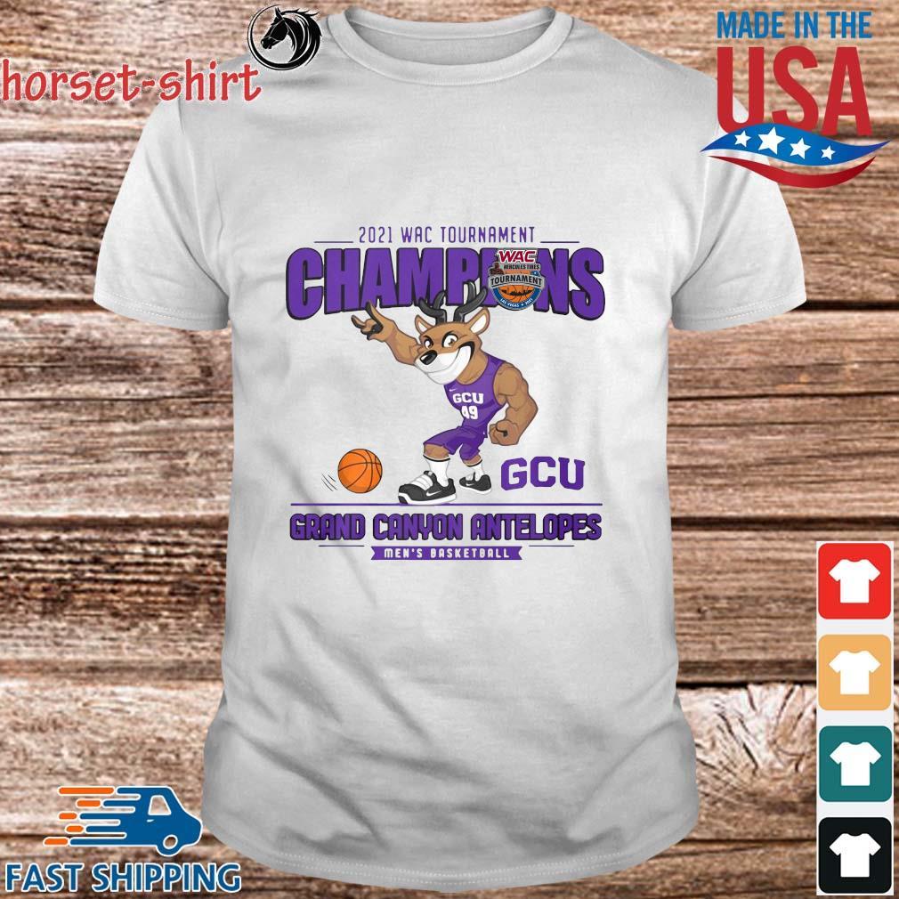 2021 Wac Tournament Champions GCU Grand Canyon Antelopes Men's Basketball Shirt