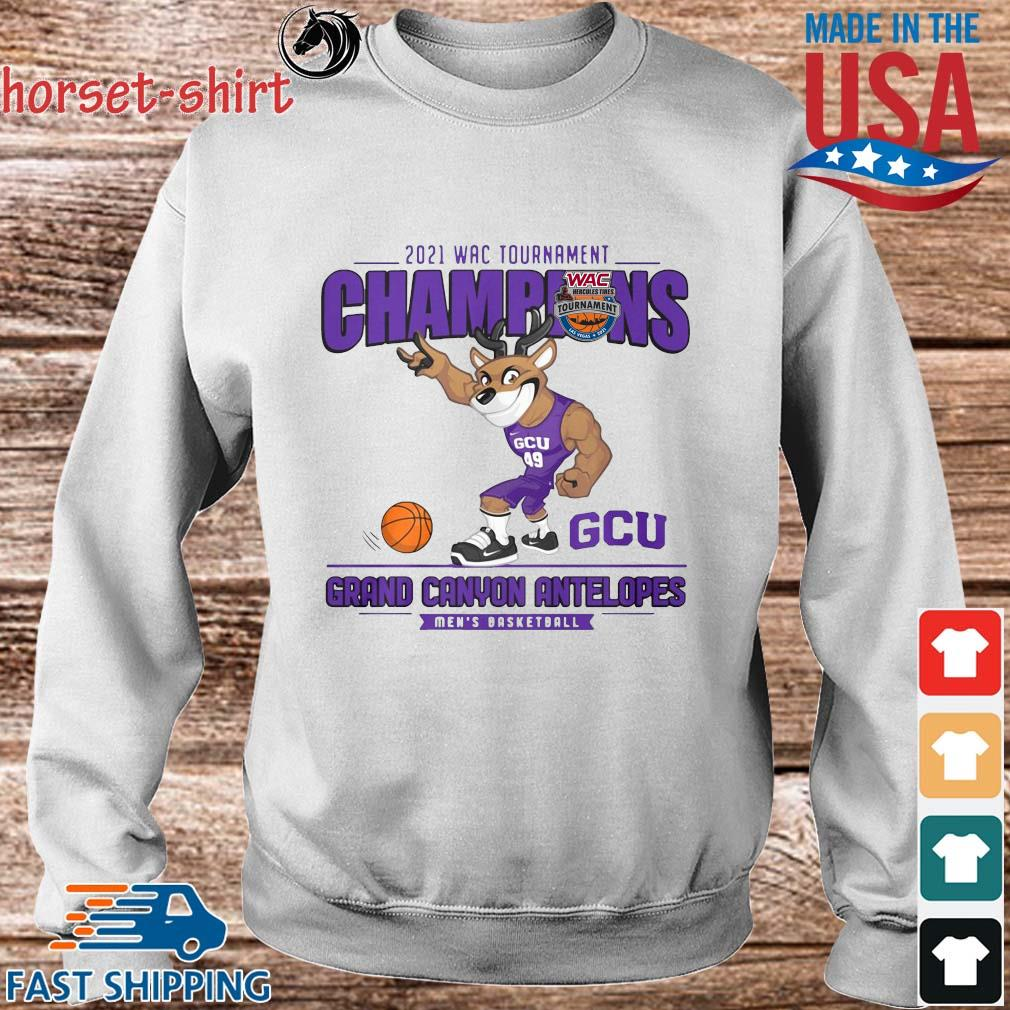 2021 Wac Tournament Champions GCU Grand Canyon Antelopes Men's Basketball Shirt Sweater trang