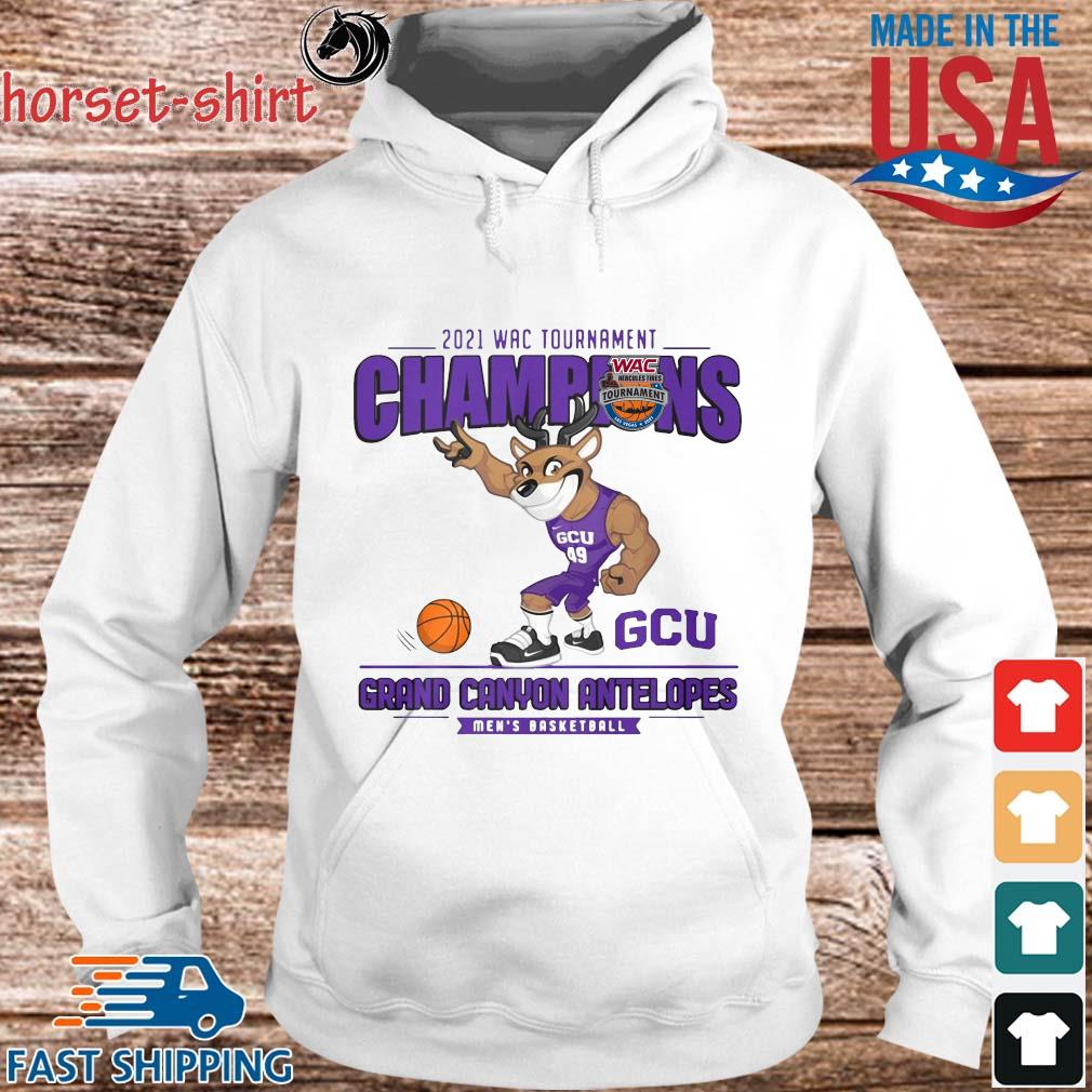 2021 Wac Tournament Champions GCU Grand Canyon Antelopes Men's Basketball Shirt hoodie trang