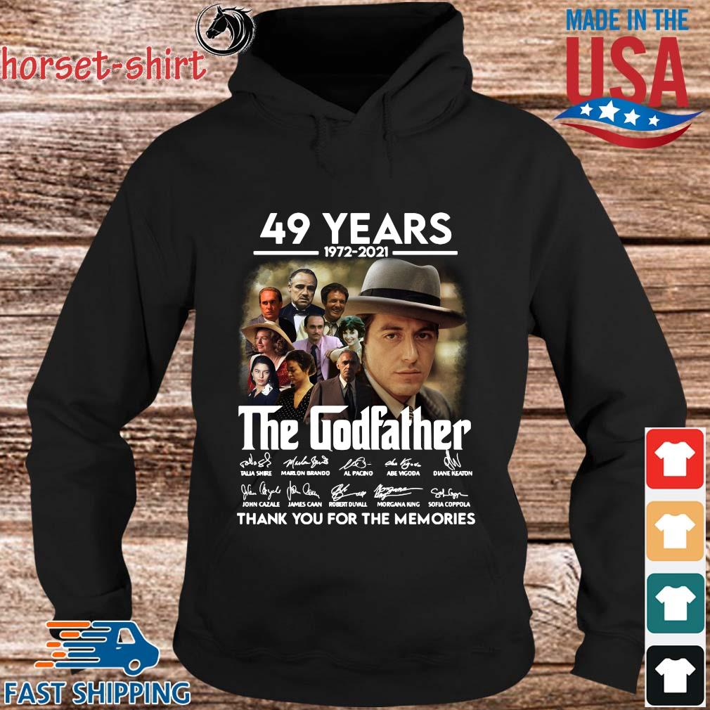 49 Years 1972 2021 The Godfather Signatures Thank You For The Memories Shirt hoodie den