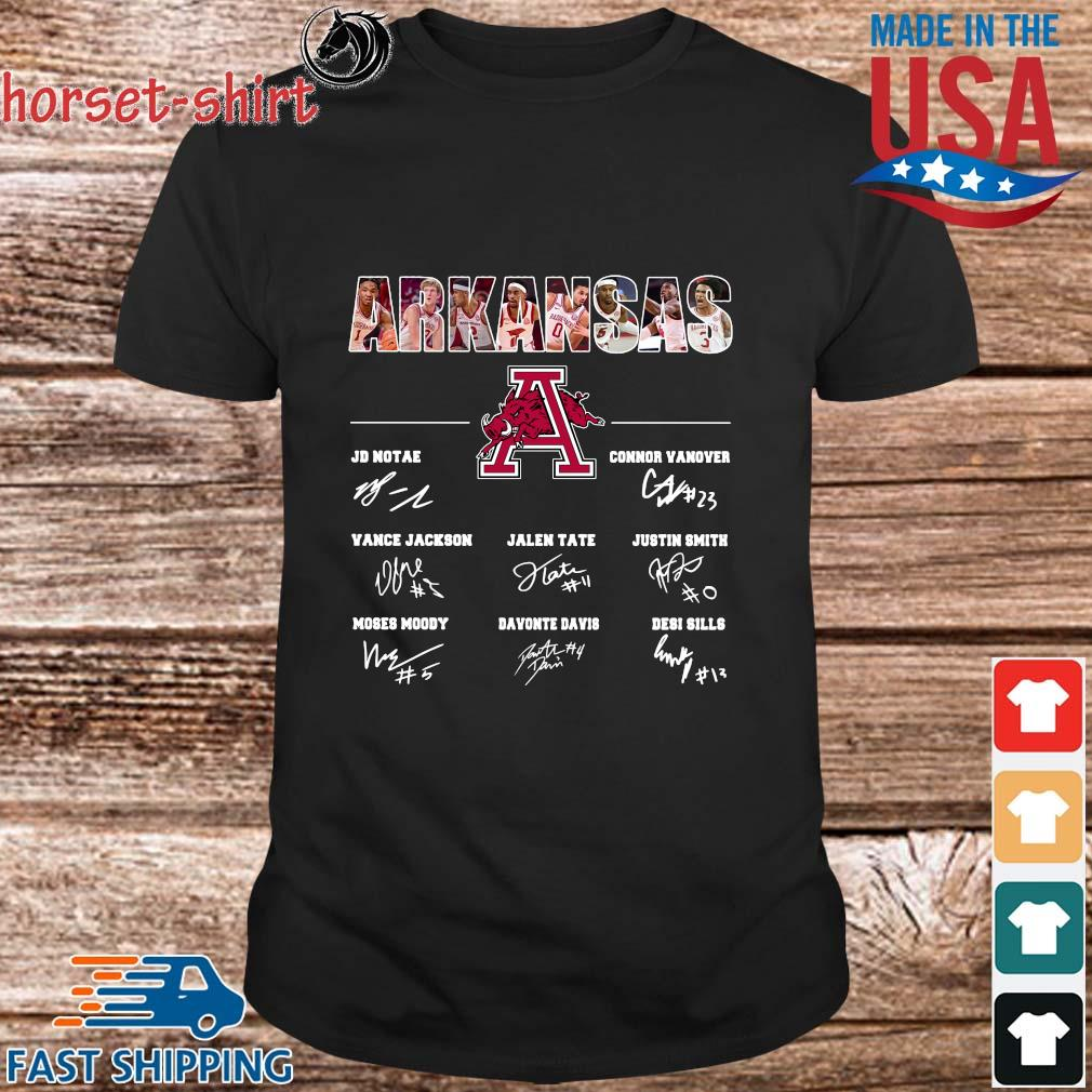 Arkansas Razorbacks Jd Notae Connor Vanover Signatures Shirt