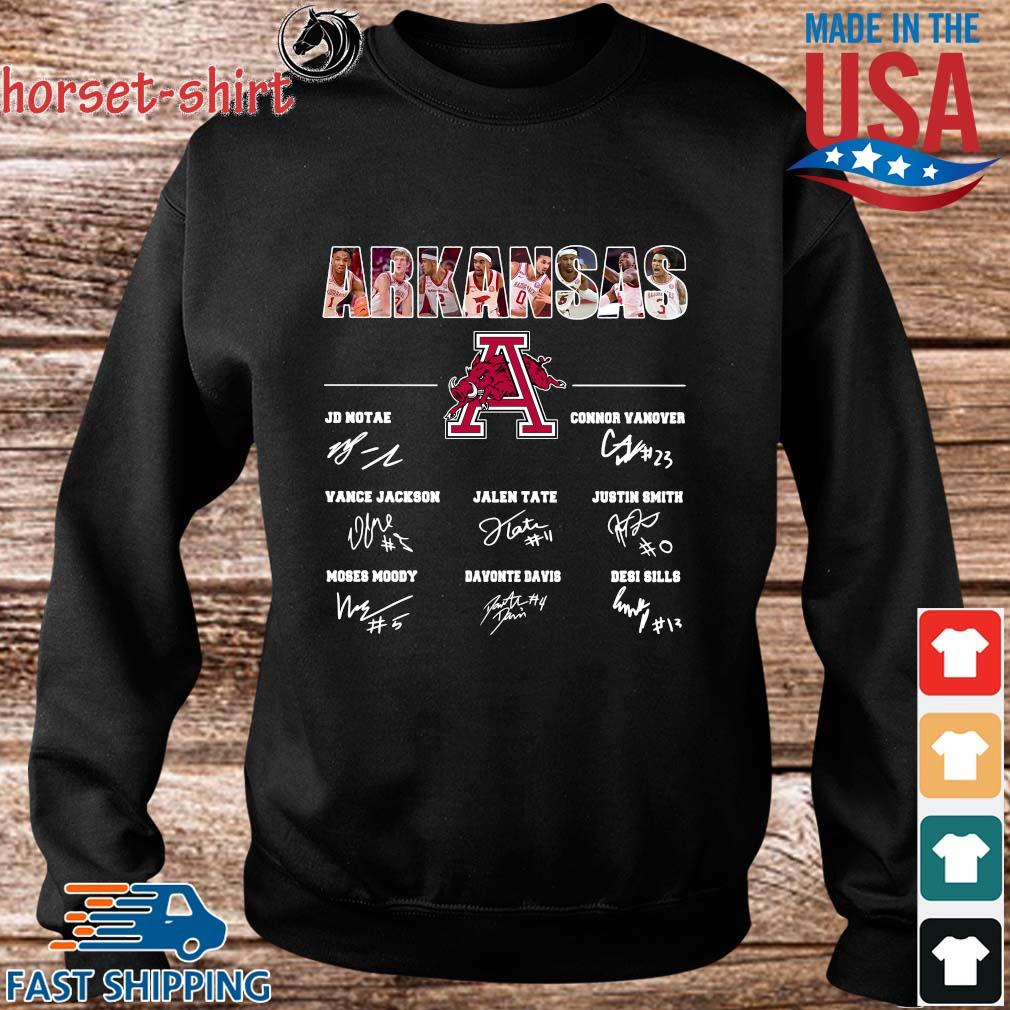 Arkansas Razorbacks Jd Notae Connor Vanover Signatures Shirt Sweater den
