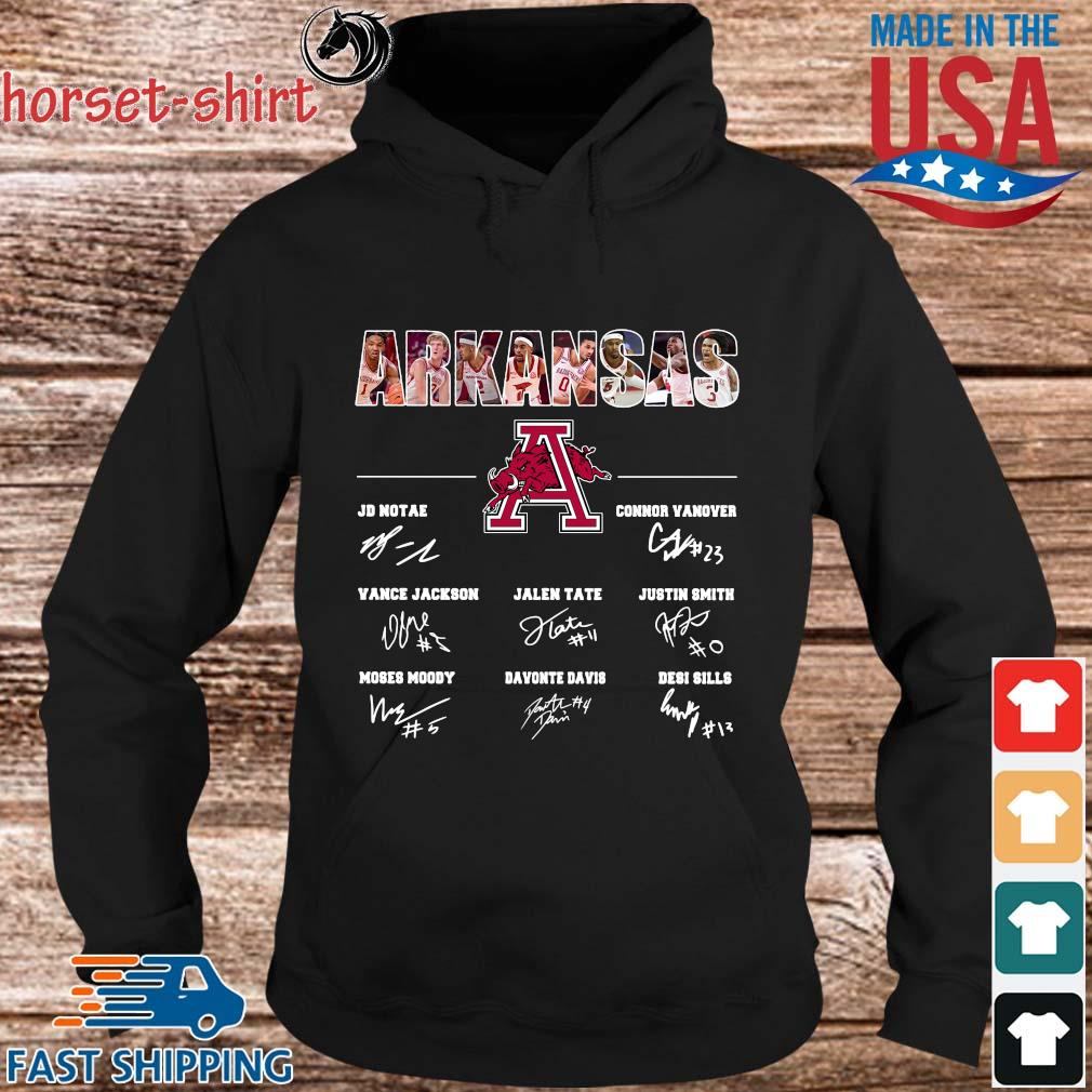 Arkansas Razorbacks Jd Notae Connor Vanover Signatures Shirt hoodie den