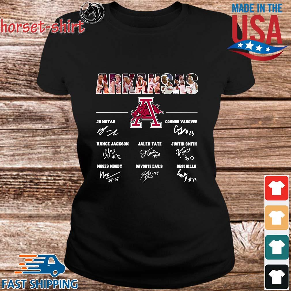 Arkansas Razorbacks Jd Notae Connor Vanover Signatures Shirt ladies den