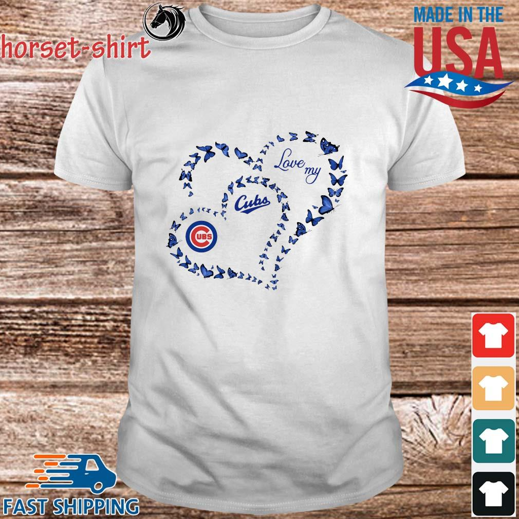 Butterfly Heart Chicago Cubs Love My Shirt