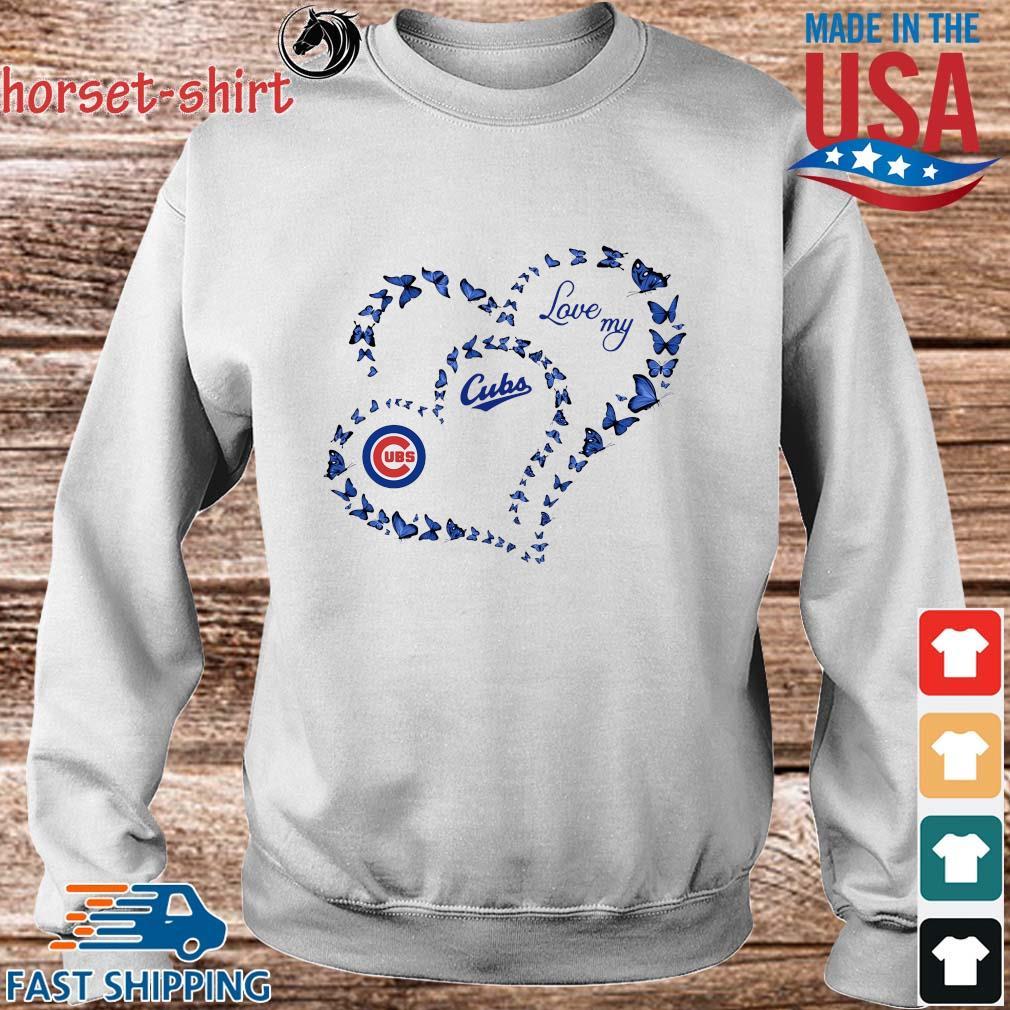 Butterfly Heart Chicago Cubs Love My Shirt Sweater trang