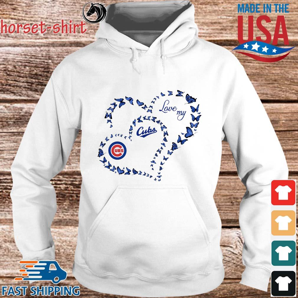 Butterfly Heart Chicago Cubs Love My Shirt hoodie trang