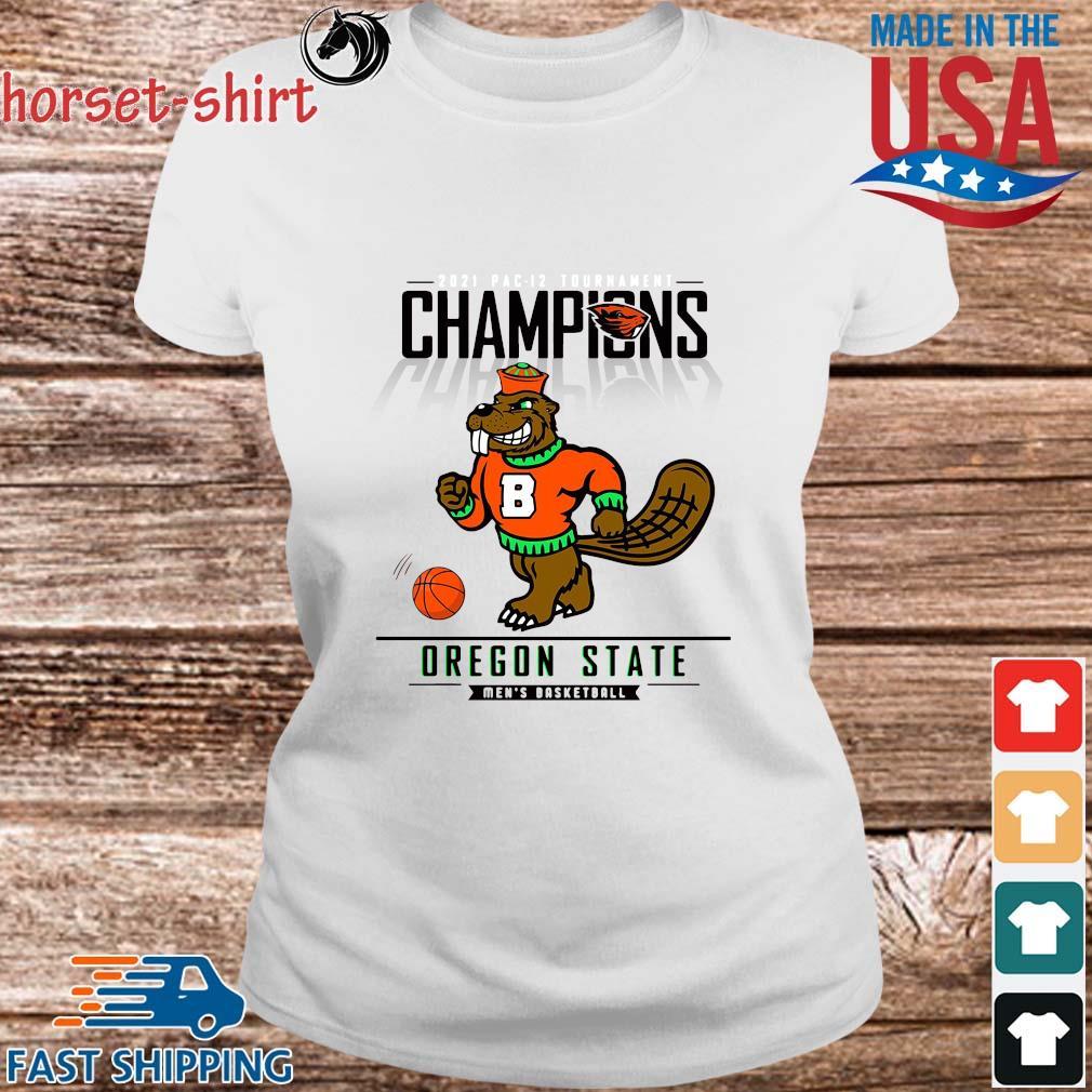 Champions Oregon State Beavers Men's Basketball Shirt Ladies trang