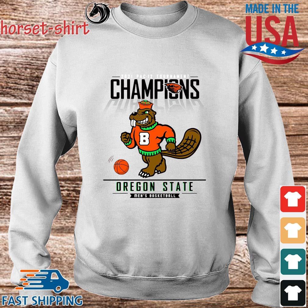 Champions Oregon State Beavers Men's Basketball Shirt Sweater trang