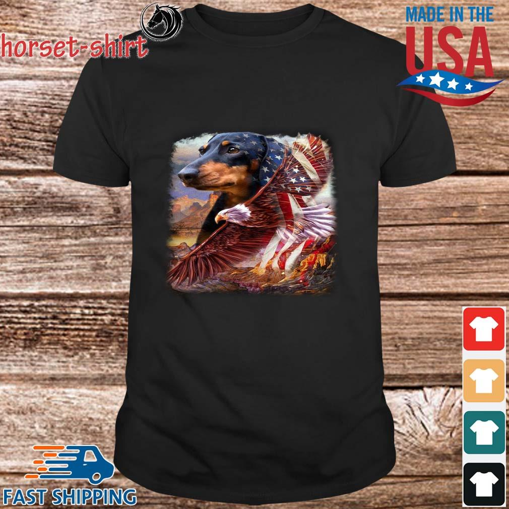 Dachshund American Patriot Dachshund Lover Flag US Shirt