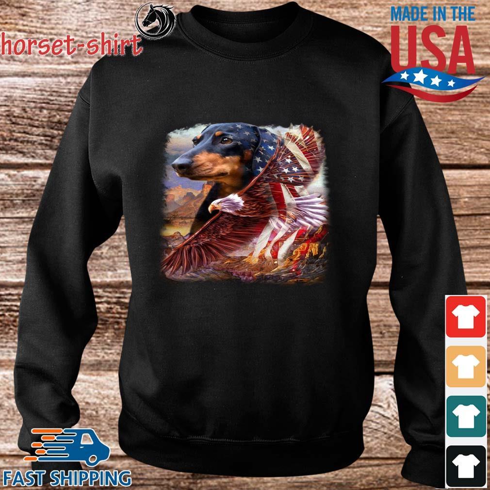 Dachshund American Patriot Dachshund Lover Flag US Shirt Sweater den