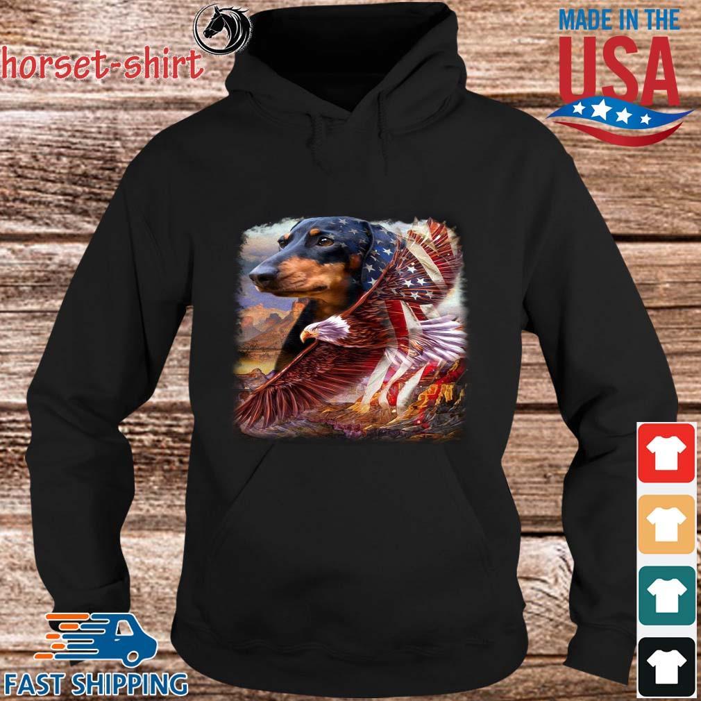 Dachshund American Patriot Dachshund Lover Flag US Shirt hoodie den