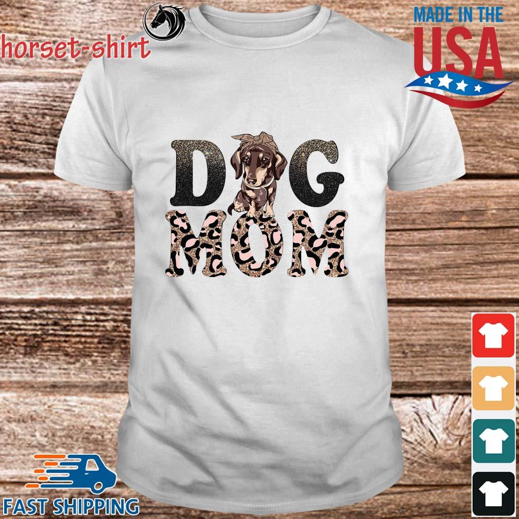Dachshund Leopard Dog Mom Shirt