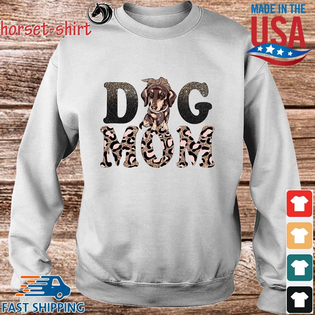 Dachshund Leopard Dog Mom Shirt Sweater trang