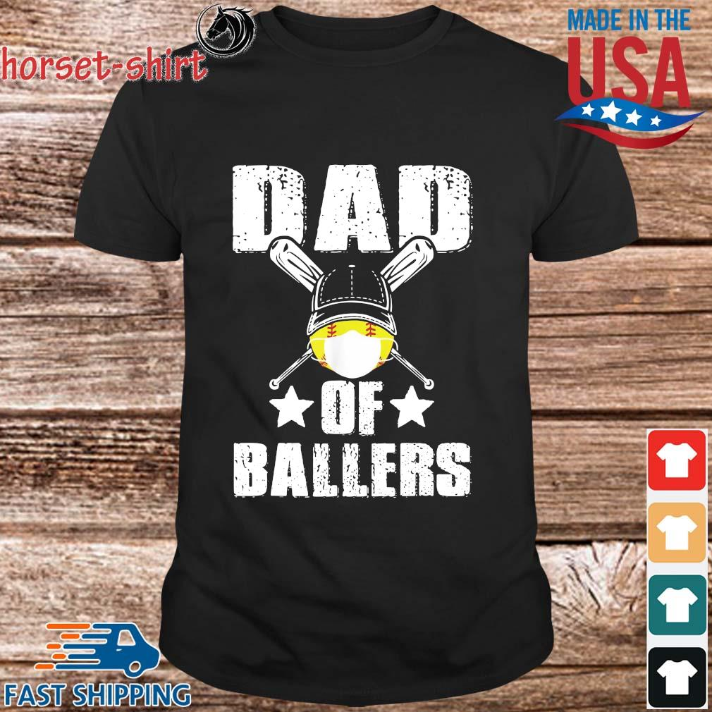 Dad Of Ballers Face Mask Shirt