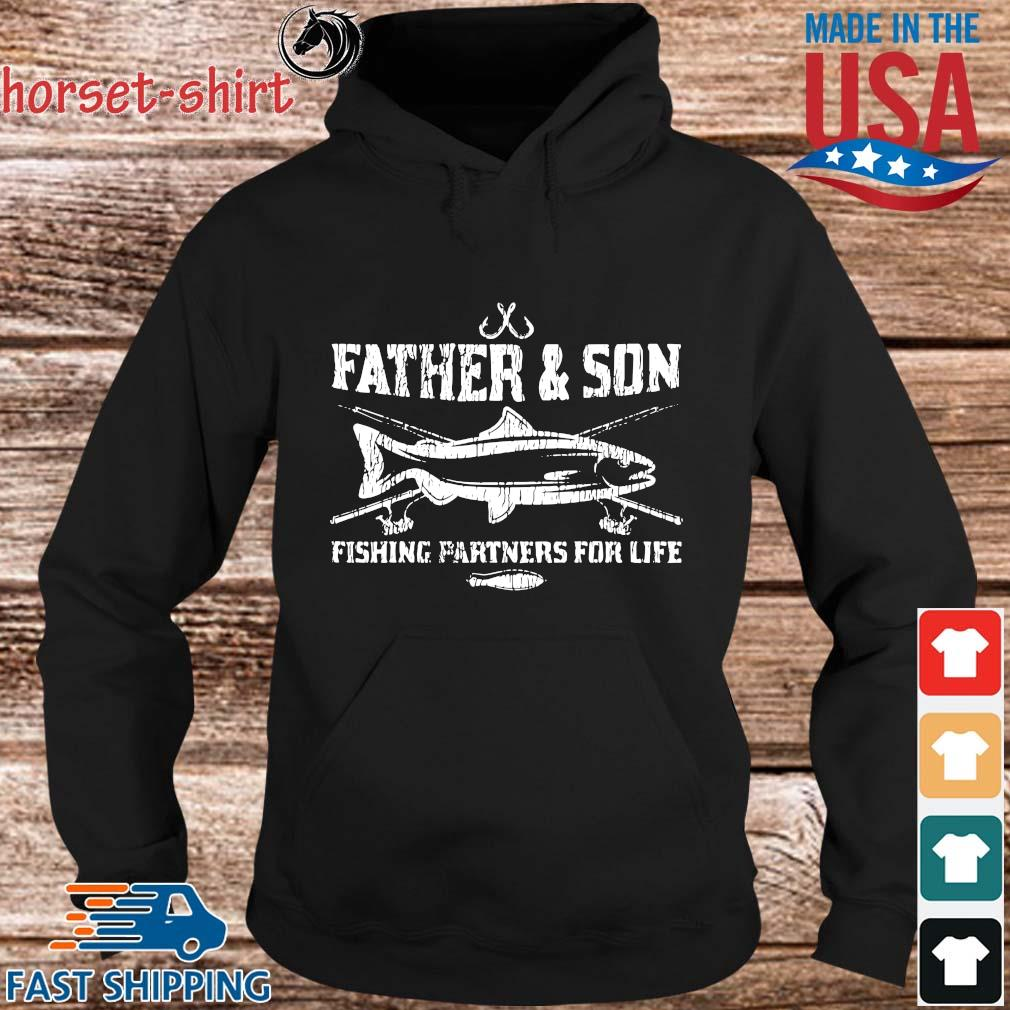 Father and son fishing partners for life s hoodie den