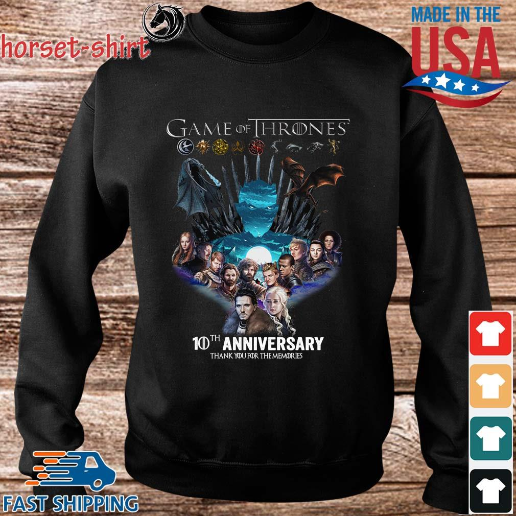 Game Of Thrones 10th anniversary thank you for the memories s Sweater den
