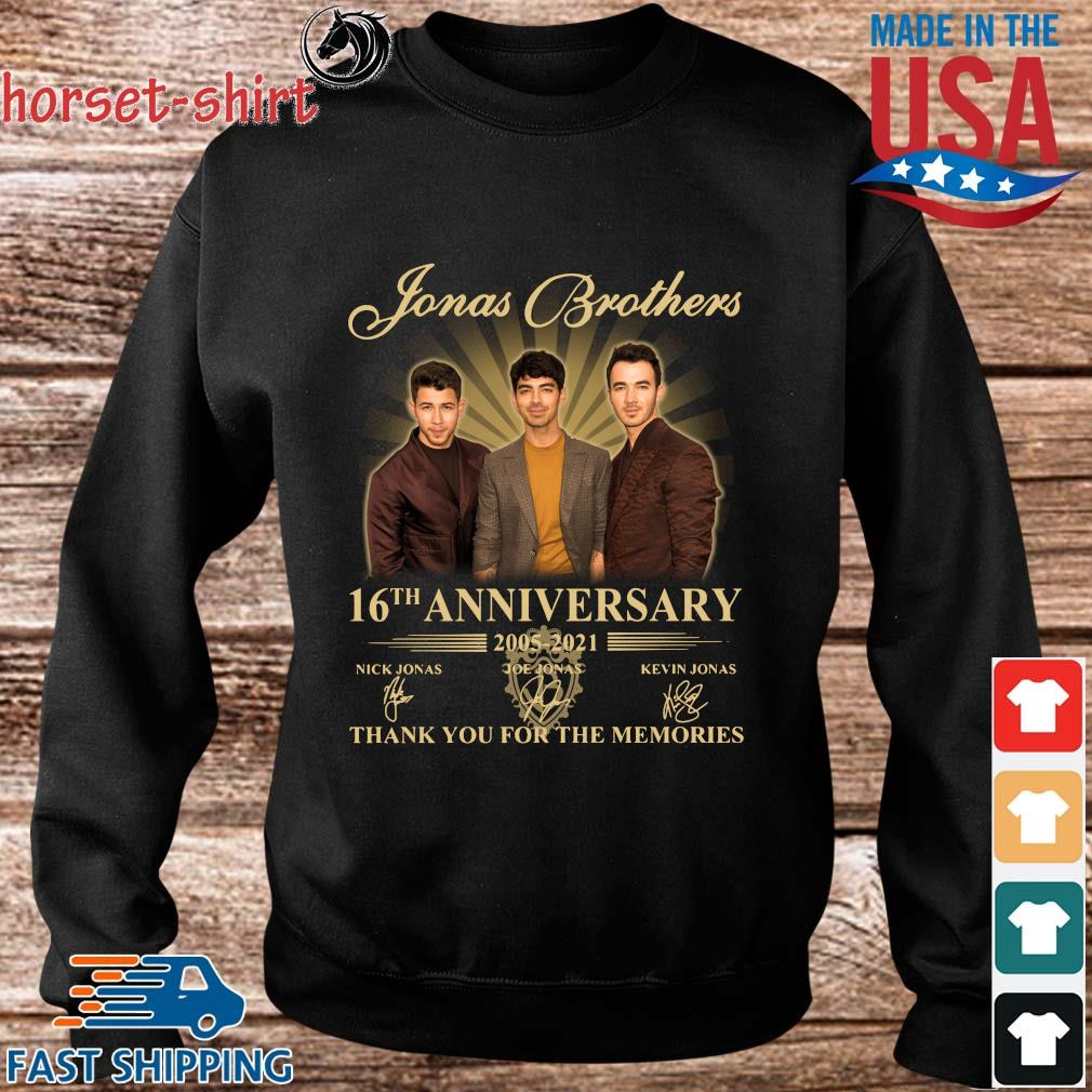 Jonas Brothers 16th anniversary 2005-2021 thank you for the memories signatures s Sweater den