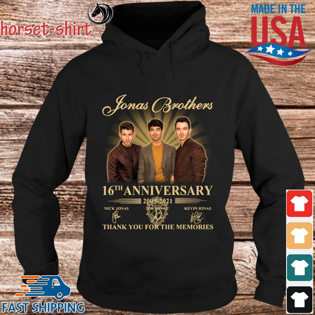 Jonas Brothers 16th anniversary 2005-2021 thank you for the memories signatures s hoodie den