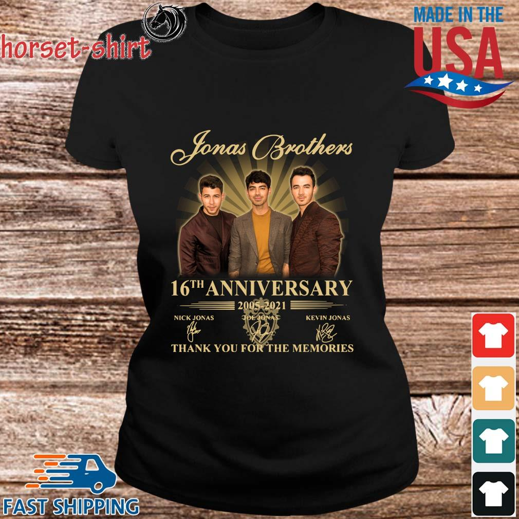 Jonas Brothers 16th anniversary 2005-2021 thank you for the memories signatures s ladies den