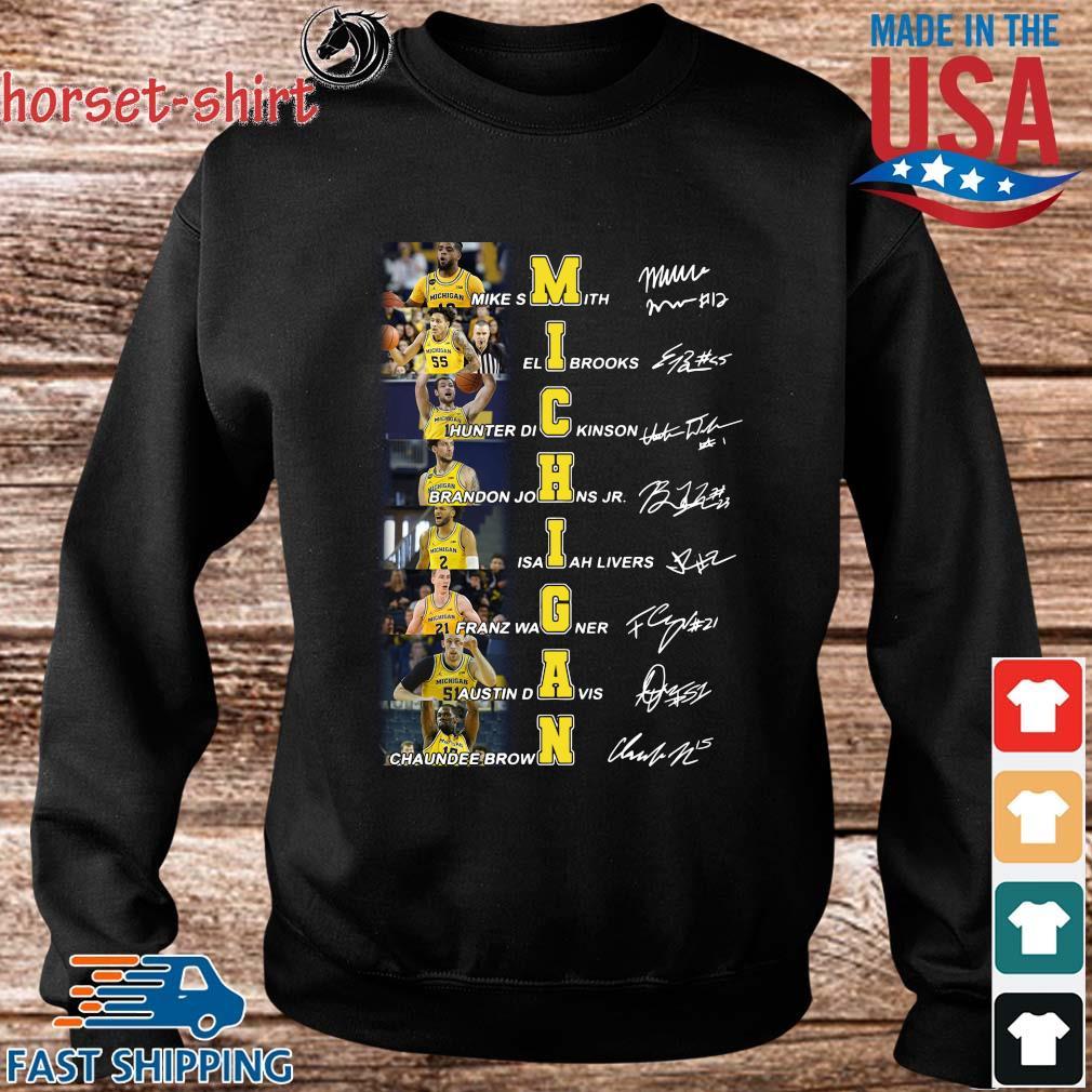 Michigan Mike Smith Eli Brooks Hunter Dickinson Signatures Shirt Sweater den