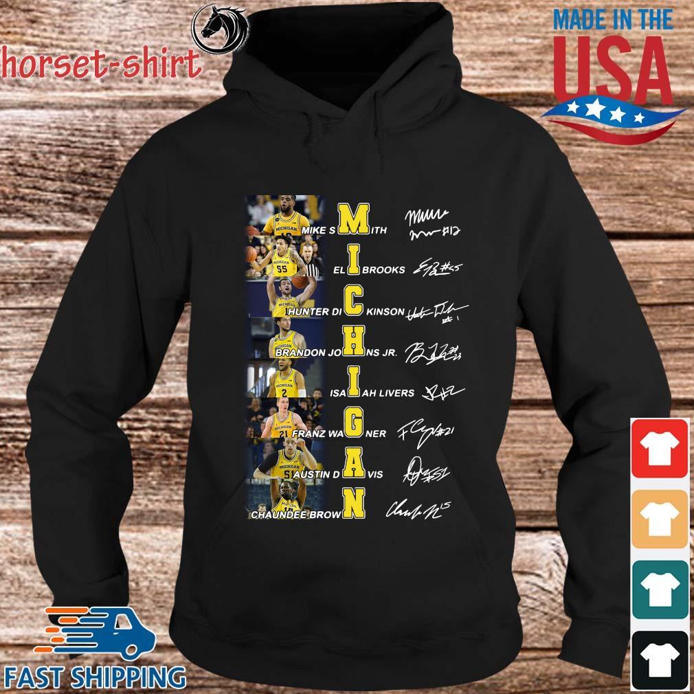 Michigan Mike Smith Eli Brooks Hunter Dickinson Signatures Shirt hoodie den