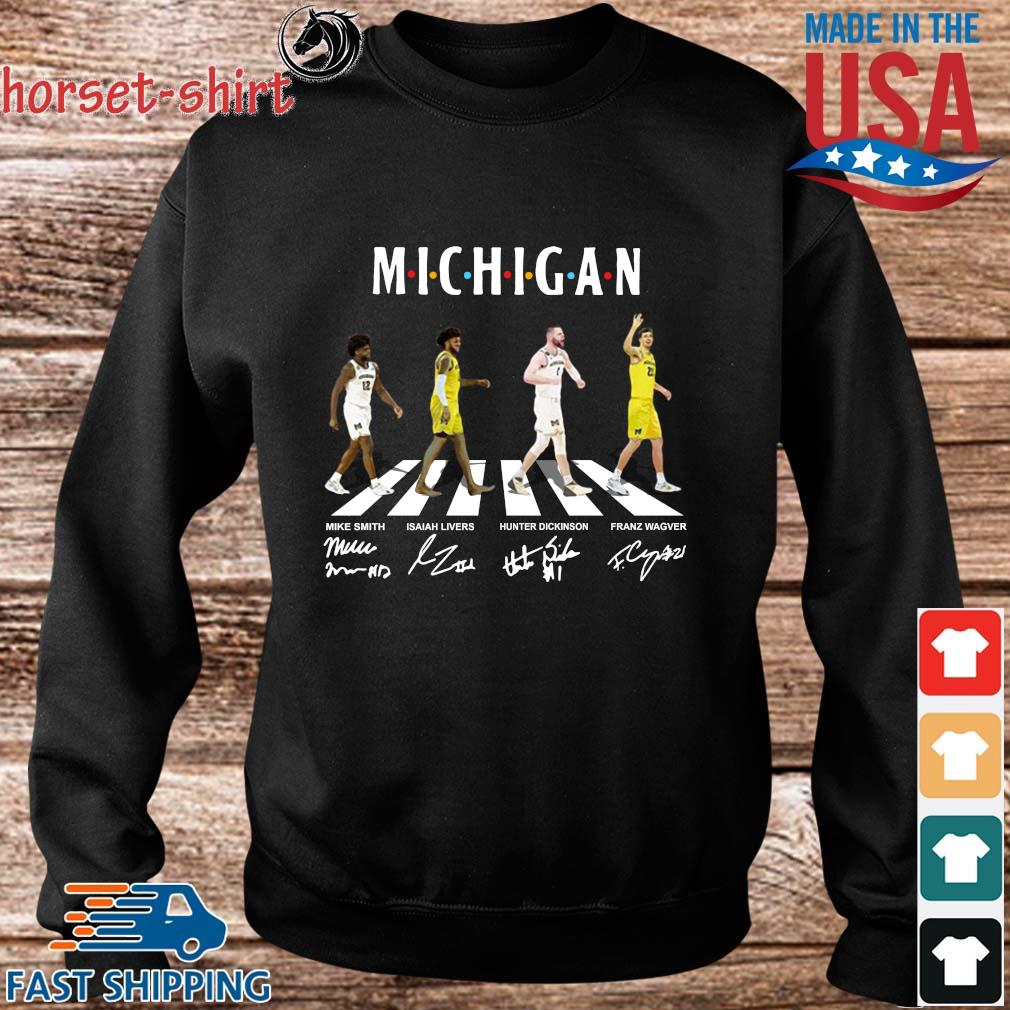 Michigan Mike Smith Isaiah Livers Hunter Dickinson Franz Wagner Abbey Road Signatures Shirt Sweater den
