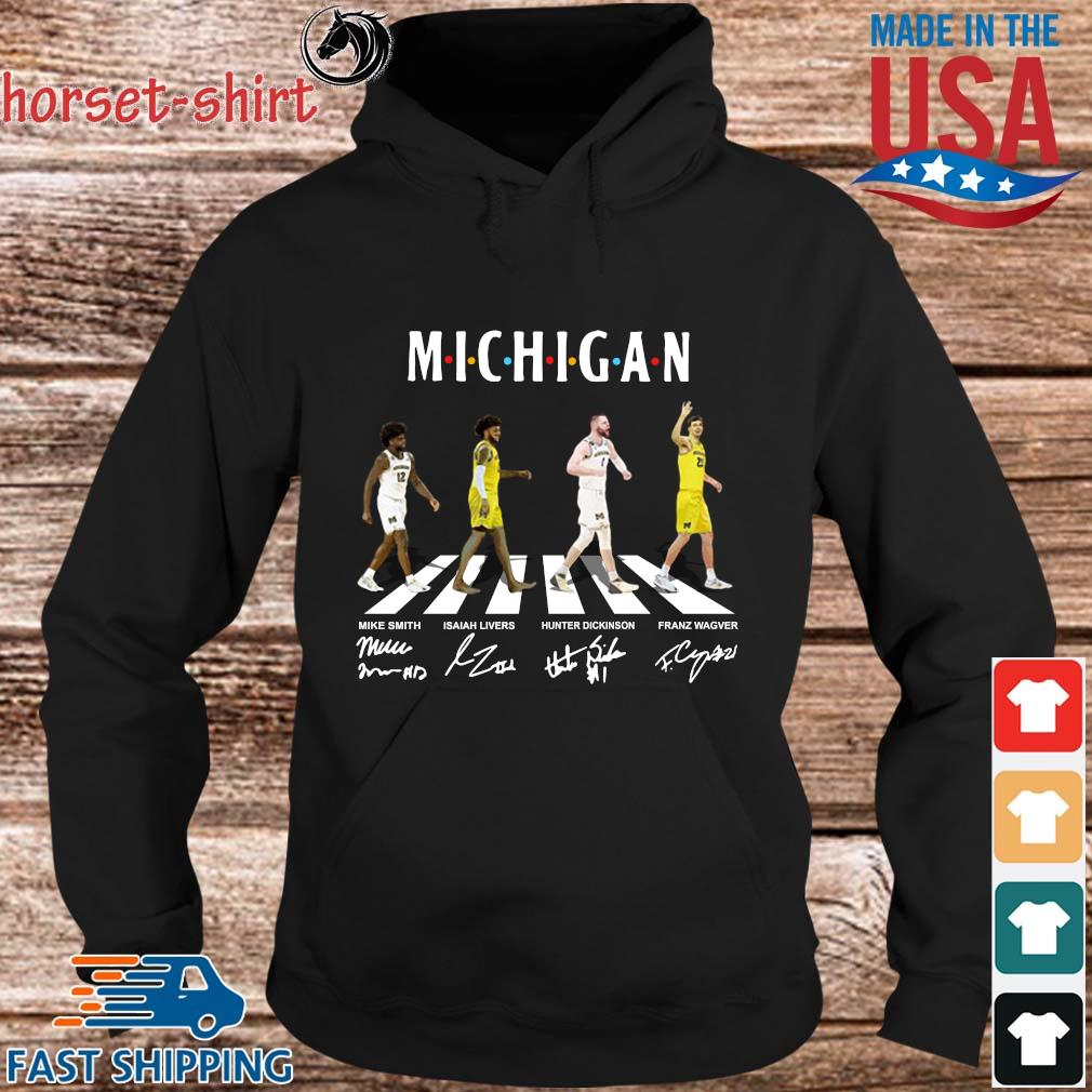 Michigan Mike Smith Isaiah Livers Hunter Dickinson Franz Wagner Abbey Road Signatures Shirt hoodie den