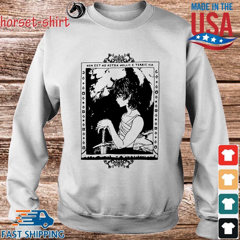 Non Est Ad Astra Mollis E Terris Via Shirt Sweater trang