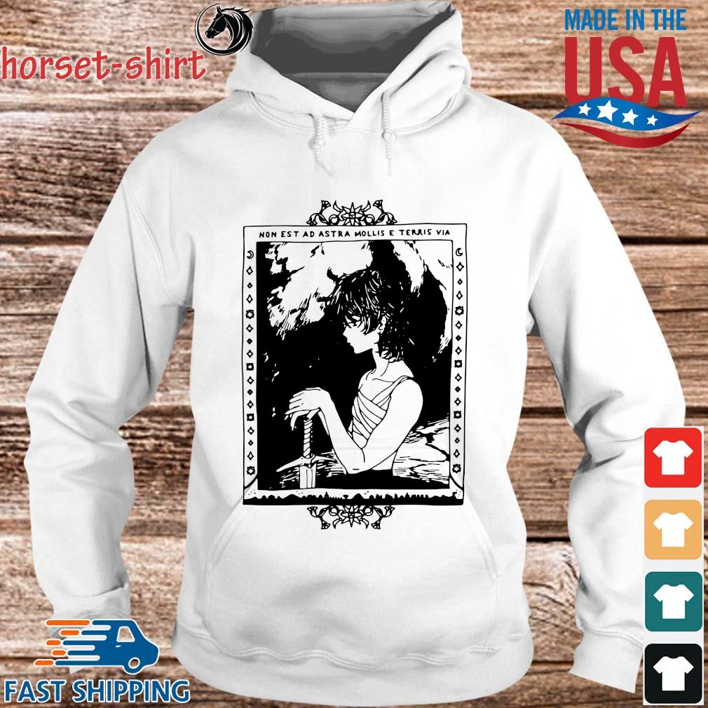 Non Est Ad Astra Mollis E Terris Via Shirt hoodie trang