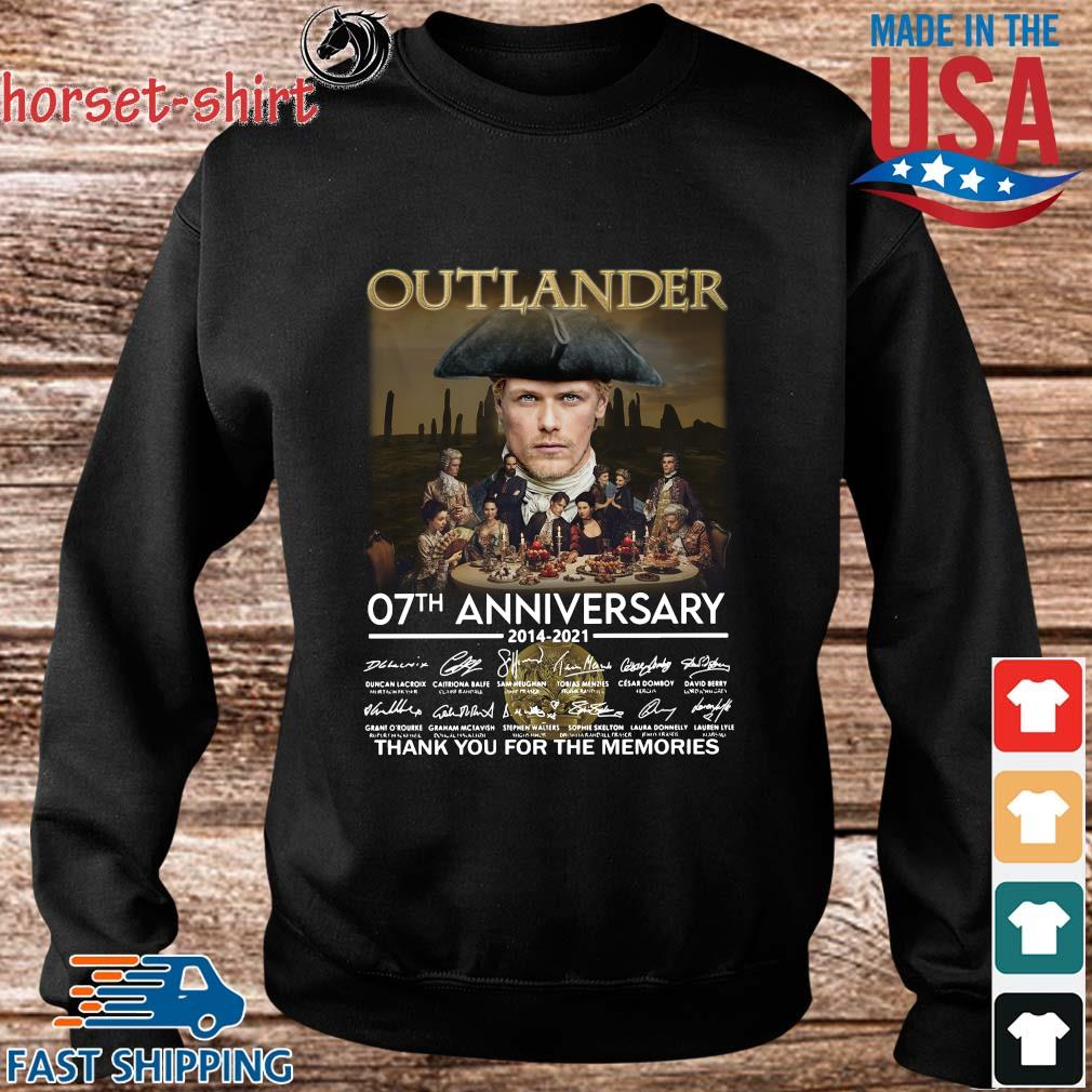 Outlander 07th anniversary 2014-2021 thank you for the memories signatures s Sweater den