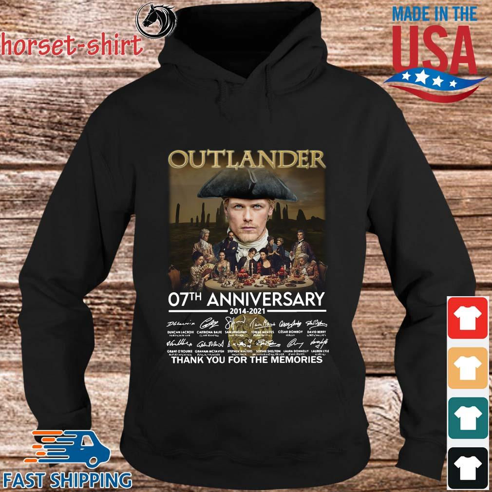 Outlander 07th anniversary 2014-2021 thank you for the memories signatures s hoodie den