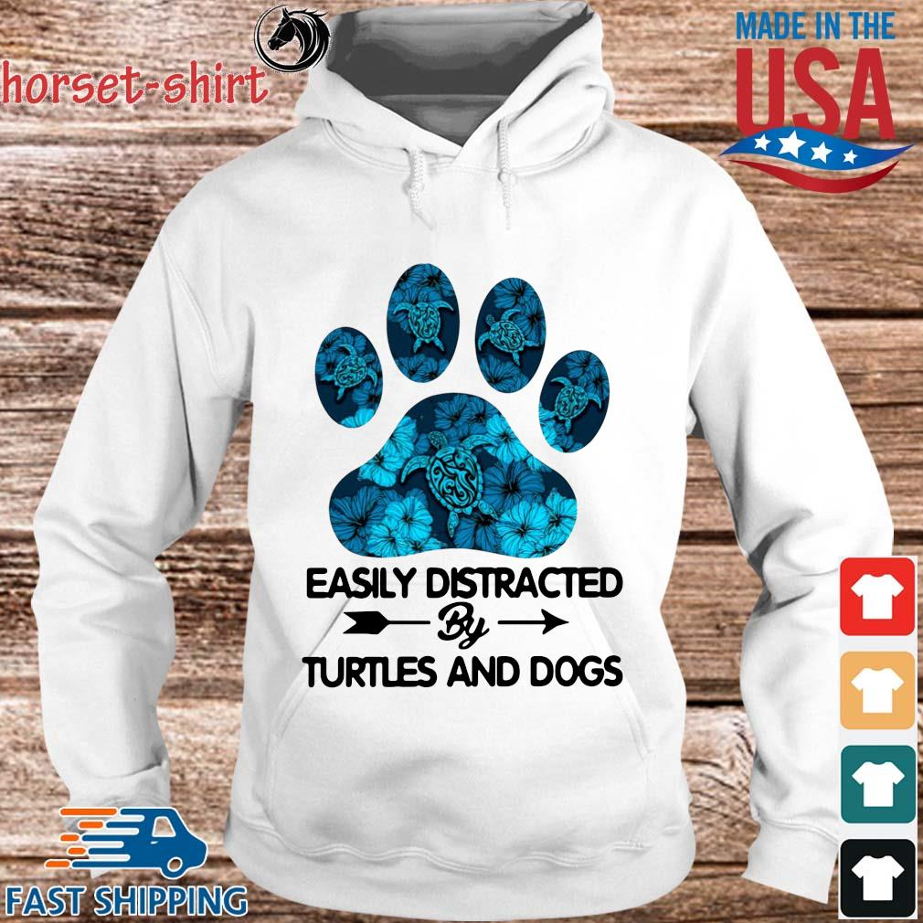 Paw easily distracted by turtles and dogs s hoodie trang