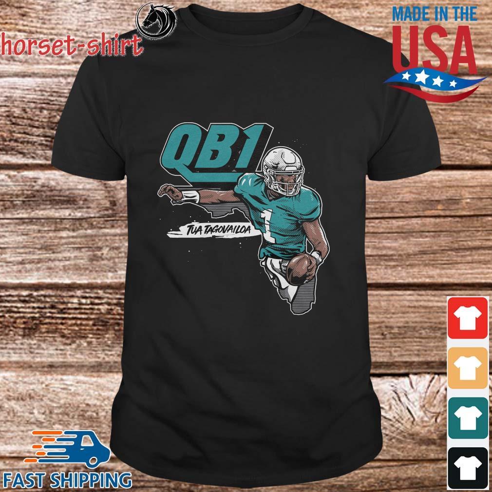 QB1 Tua Tagovailoa Miami Dolphins Shirt