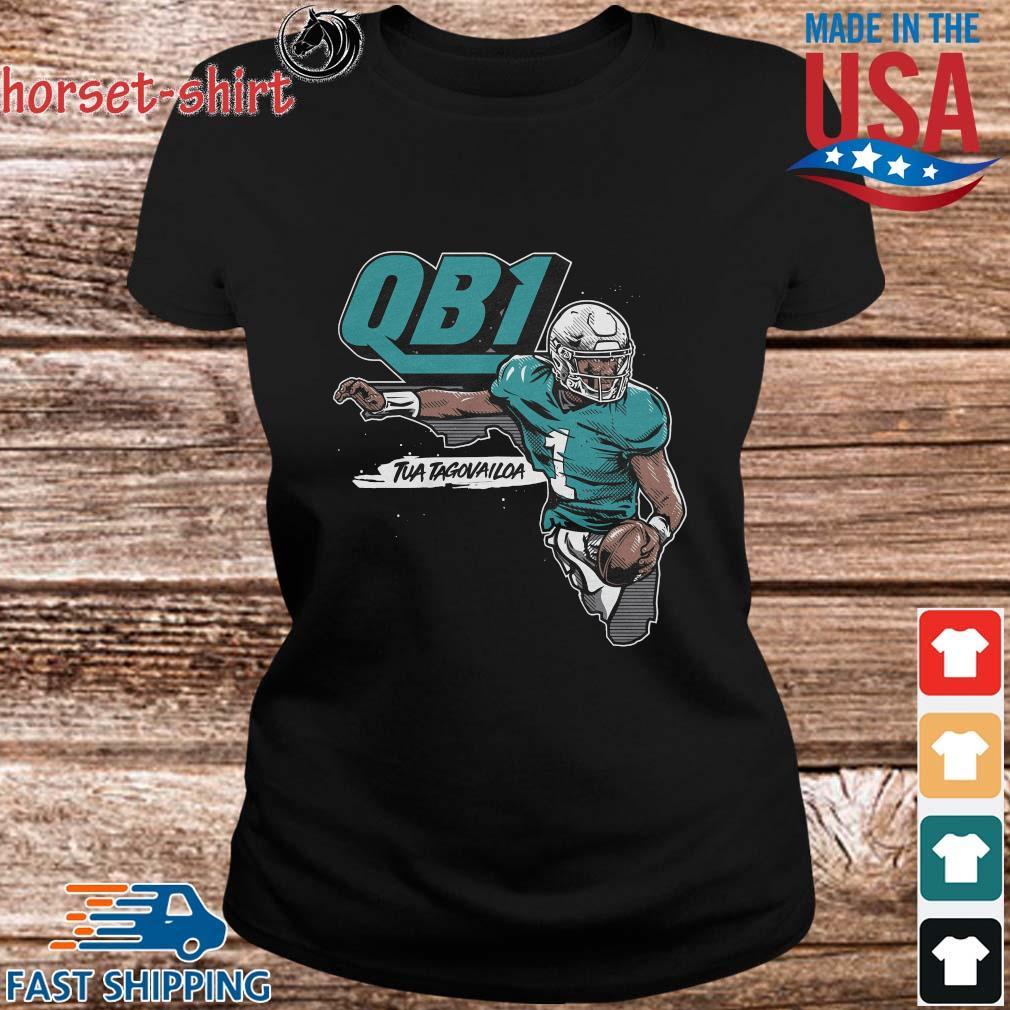 QB1 Tua Tagovailoa Miami Dolphins Shirt ladies den