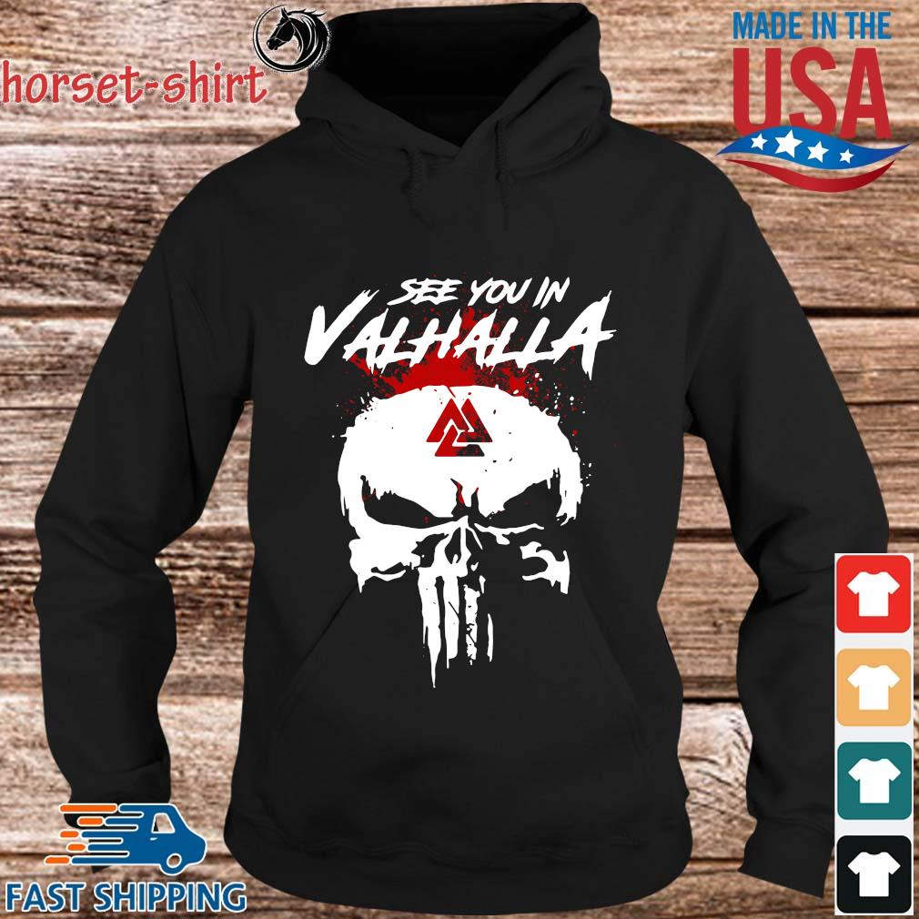Skull see you in valhalla s hoodie den