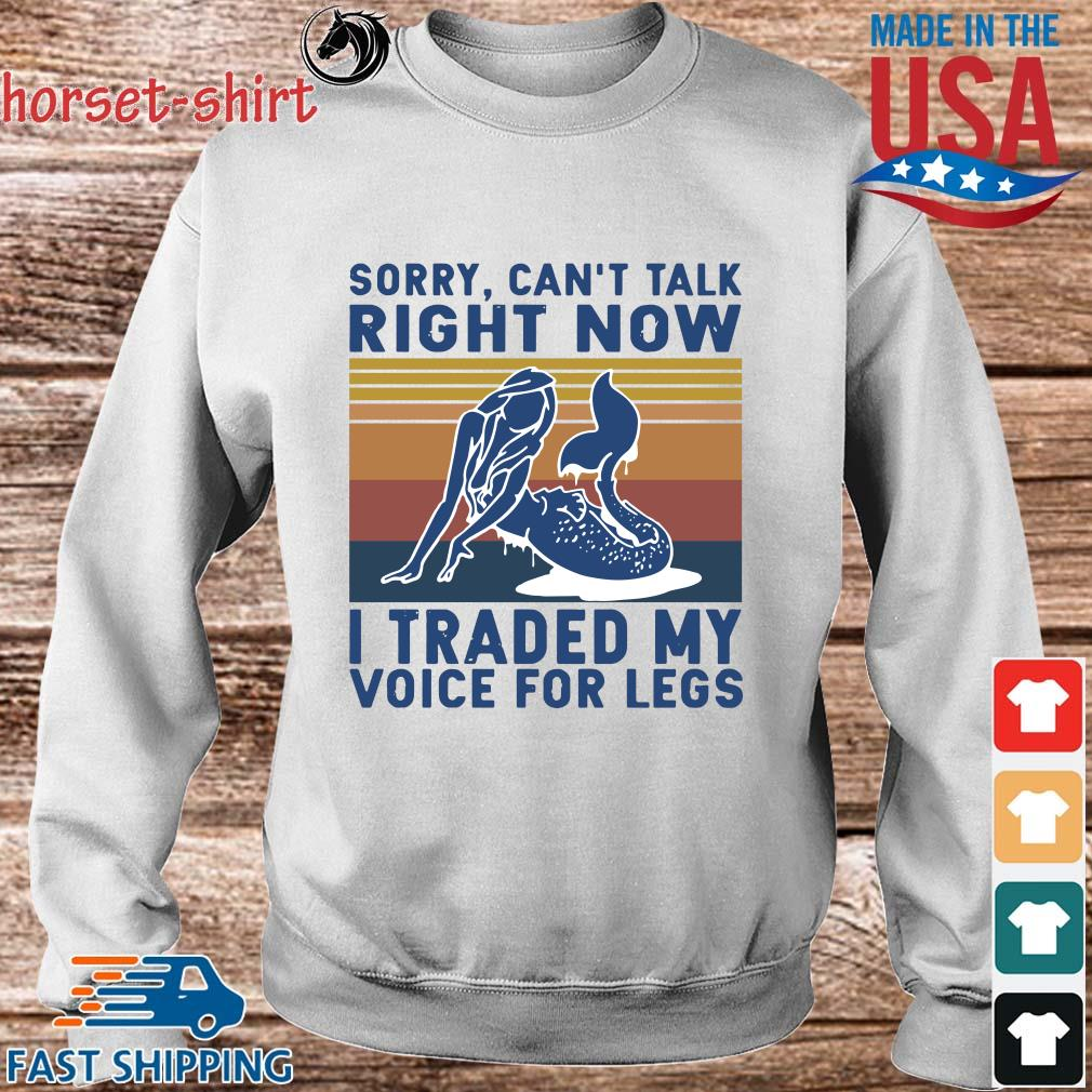 Sorry can't talk right now I traded my voice for legs vintage s Sweater trang
