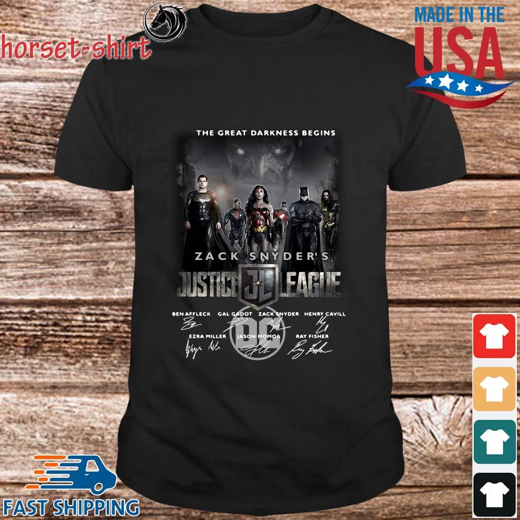 The Great Darkness Begins Zack Snyder_s Justice League Signatures Shirt