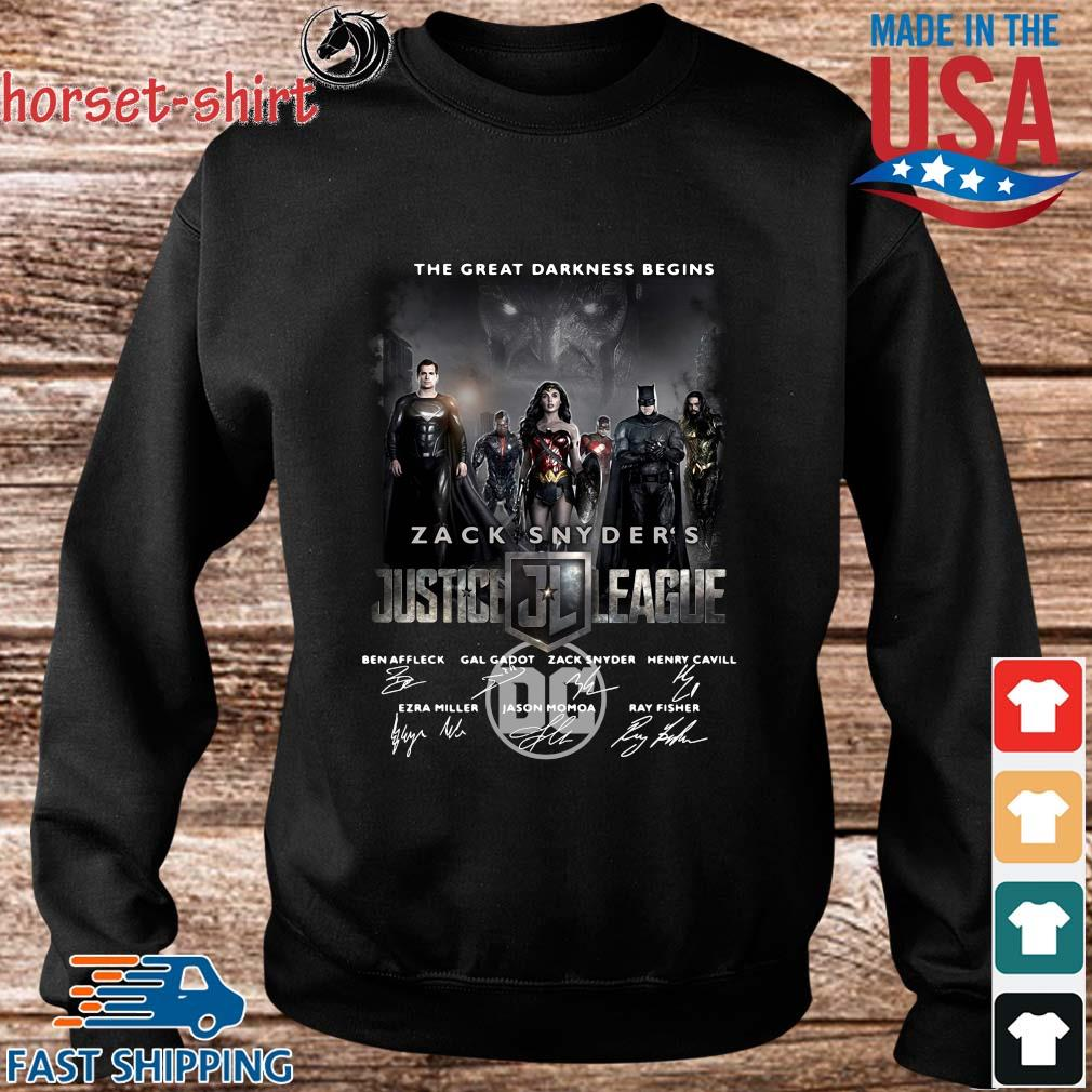 The Great Darkness Begins Zack Snyder_s Justice League Signatures Shirt Sweater den